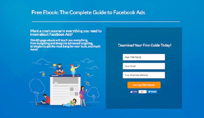 Landing page thu thập khách hàng tiềm năng
